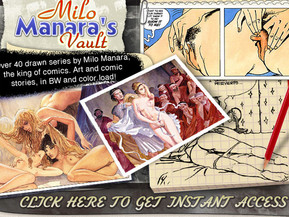 Over 40 drawn series by Milo Manara, the king of comics. Art and comic stories, in BW and color.