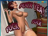Nasty big cock bitch fucks her booby sex mate hard in her ass!