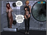 Spaceship domain whore enjoys playing with her redhead sex slave!
