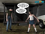 Cute curios teen bitch explores evil forces in her area!