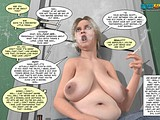 Fat milf was masturbating in toilet and fucked by boy