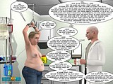 Hardcore porn with perverted doctor and fat whore in chains