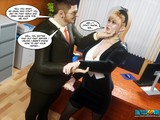 Horny as hell boss is penetrating a perverted secretary in 3D porn scene