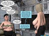 Fatty space whores try lesbian fucking experience for the first time!