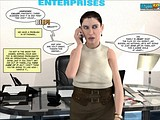 Sexy chubby secretary gets wet on seeing her lady boss!