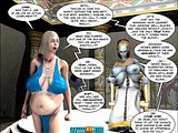 Horny big tits whore helps a robot to work well with its cock!