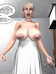 Slutty German wench examines her weighty love muffins and plays with her tit pointers!