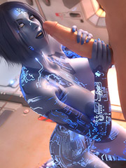 Insanely enthusiastic 3D fucking action in the opening with an alien whore