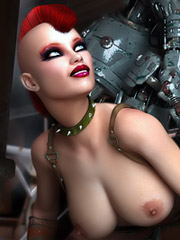 Sensible dystopian warrior obtains penetrated by her robot protector